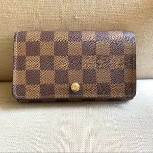 Authentic Louis Vuitton Tresor wallet Damier Ebene